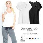 【夏サマーセール】【VERY 雑誌掲載】≪Cotton Citizen≫ コットン シチズン全5色 上質モダール素材 ポケット Tシャツ Scoopneck Pocket TEE【レディース】