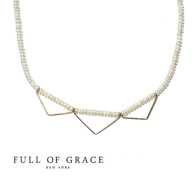 ≪FULL OF GRACE≫ フルオブグレイスモダンコレクション 真珠パール ゴールドワイヤーネックレス Raffin Pearl Necklace (Gold)【レディース】【_包装】【交換・返品】 アローズ、トゥモローランド、Ropeでも展開中!