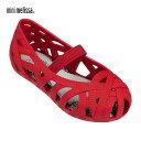 ショッピングラバーシューズ ≪mini melissa≫ ミニ・メリッサキッズ ラバーシューズ メッシュ 靴 Mini Jean and Jason (Red)【ベビー】【キッズ】【楽ギフ_包装】