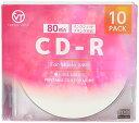 VERTEX CD-R Audio 80分 10P インクジェットプリンタ ホワイト 10CDRA.80VXCA