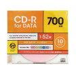VERTEX CD-R Data 1回記録用 700MB 1-52倍速 10P カラーミックス10色 インクジェットプリンタ対応 10CDRD.CMIX.700MBCA グッズ