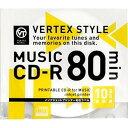 VERTEX CD-R Audio 80分 10P インクジェットプリンタ ホワイト 10CDRA.80VX.WPの価格を調べる