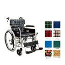 カワムラサイクル ベーシックモジュールアルミ自走用車椅子BM22-42SB-M/緑チェック