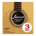 Laidback/レイドバックJAGL3Pアコースティックギター弦3セットライトゲージ