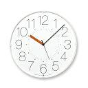 LEMNOS ( レムノス )掛け時計CARA(カラ)ホワイト(オレンジ針)AWA13-08WH-O