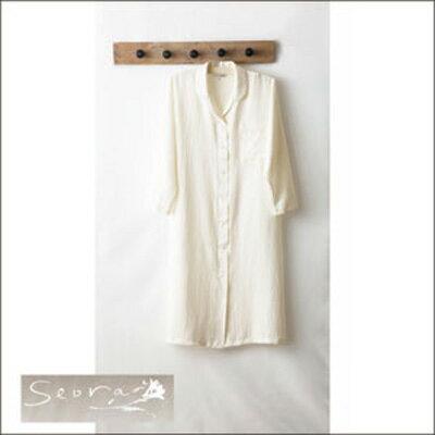 Seora Seora NIGHTY シルクワンピース 6677-2003-3000 ホワイト/M Lid206-WH/M
