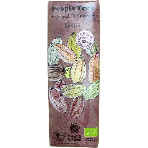 ピープル・ツリー オーガニックビターチョコレート 50g