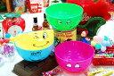 【Funny Face】プラスチックボウル4個セット/電子レンジ使用OK!の画像