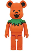 BE RBRICK GRATEFUL DEAD DANCING BEARS ORANGE 1000%