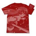 灼眼のシャナII シャナ オールプリントTシャツ レッド サイズ:XL