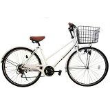 Lupinus (ルピナス) ブランド自転車  26インチ シティサイクル ママチャリ 高級 ブラックリム シマノ外装6段 自転車 ( T字ハンドル ) 26-T-A
