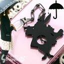 雨の日をちょっとハッピーに 傘チャーム(時計うさぎ/ブラックBNi色)KC-009の画像