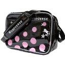 CONVERSE 3S エナメルショルダーM C1300053 色 : ブラック/ピンク