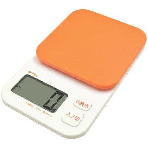 ドリテック デジタルスケール トルテ 1kg オレンジ KS-174OR