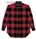 ムッシュ WBメンズチェックシャツ/A(RD×BK)/M