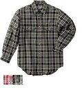 ムッシュ(MUSSHU) メリノウール100%メンズチェックシャツ(綾織り) Aレッド×ブラウン M 55130