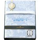 プレーリードッグ クリスチャン・ジョルジュ 日本製ジャカード綿毛布 ブルー CG-10110M