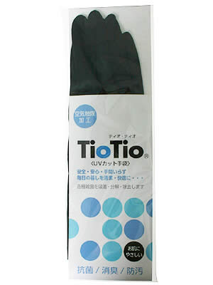 TioTio UVカット手袋 セミロング 黒