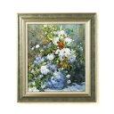 名画額F10号 ルノワール花瓶の花 17921
