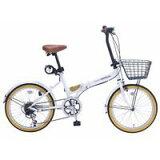 My pallas M-252 20インチ 6段変速 折畳自転車 オールインワン ホワイト