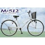 シティサイクル26 シルバー  M-512-S