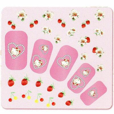 Pink House×キティ ネイルシール イチゴチェリー