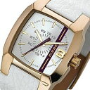 DIESEL(ディーゼル) DZ1298 フェイスライン ホワイト レザーベルト メンズウォッチ 腕時計 02P04feb11の画像