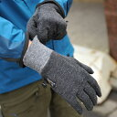MOUNTAIN HARDWEAR マウンテンハードウェア Mens HEAVYWEIGHT WOOL STRETCH GLOVE Black (ヘビィウェイトウールストレッチグローブ)(手袋)(ウール混紡)(防寒グッズ)の画像