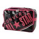 CONVERSE/コンバース C1612053-1961 エナメルショルダーバッグ ブラック×ピンク