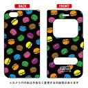(スマホケース)窓付き手帳型スマートフォンケース マカロンズ ブラック / for iPhone 6s/Apple (YESNO) Coverfull 4REAL