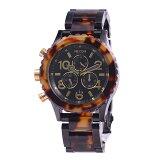 NIXON 腕時計 ニクソン 腕時計 THE 42-20 CHRONO (クロノグラフ) ALL BLACK/TORTOISE NA037679-00