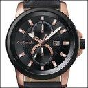 Guy Laroche TIMEPIECES G3001-03 ギ・ラロッシュ メンズウォッチ クォーツ 国内 Black Dial / Black Leather
