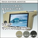 オトギノ 9インチサンバイザーモニター右 ブラックの画像