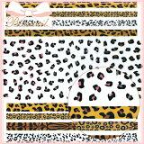 極薄 レオパード ヒョウ 豹 アニマル ネイルシールB0ACー015