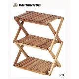 キャプテンスタッグ CSクラシックス 木製3段ラック 460 UP-2504