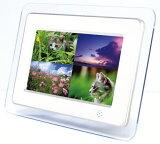 デジタルフォトフレーム DS-DA70N102 ホワイト/クリア