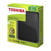 東芝 CANVIO BASICS ポータブルハードディスク 2.5インチUSB外付けHDD(1TB) HD-AC10TK ブラック
