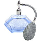 バルブ アトマイザー L チューブ 菱形 カットグラス サンドブラスト 10002 ブルー