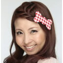 髪ピタ ハード リボン チェック レッドの画像