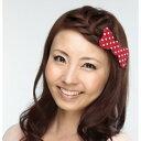 髪ピタ ハード リボン ドット レッドの画像