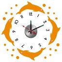 【ウォールデコクロック】ウォールステッカー、ウォールシールの新発想クロック(時計)!壁に何度でも貼り直し可能なステッカーにおしゃれな時計をセット!10D008の画像