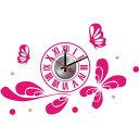 【ウォールデコクロック】ウォールステッカー、ウォールシールの新発想クロック(時計)!壁に何度でも貼り直し可能なステッカーにおしゃれな時計をセット!10D054の画像