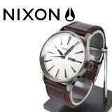 NIXON 腕時計 ニクソン 腕時計 THE SENTRY LEATHER SILVER/BROWN(セントリー レザー シルバー/ブラウン) NA1051113-00 メンズ 02P26Jan12