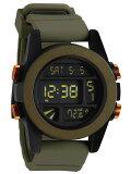 NIXON ユニット Surplus/Black/Orange Ano (腕時計)