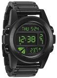 NIXON ユニットSS  All Black/Green (腕時計)