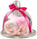 TEATSIGHTティートサイト プリザーブドフラワー 枯れないお花 ガラスポット入り バラ 2輪 白×ピンク クリアケース入り フォーサイト