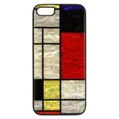 Man & Wood Ikins iPhone 5 / 5s Natural Pearl Case Mondrian ブラックフレームI2982i5S アイキンス iPhone5 / iPhone5s ケース  PSR
