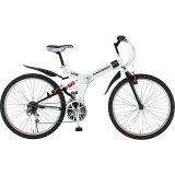 ミムゴ シボレー 26インチ 折りたたみ自転車 MTB FD-MTB26 18S ホワイト