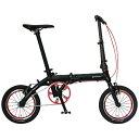ルノー 14型 折りたたみ自転車 RENAULT ULTRA LIGHT 7 ブラック AL-FDB140
