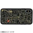 電子技販 iPhone X用 FLASH PARIS回路地図ケース 黒 PX050B